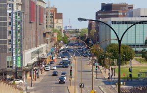 Rue Berri, vue de la rue Sherbrooke